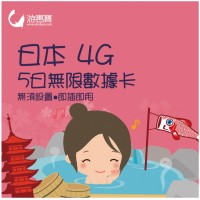 Uhuibao - SoftBank 4G 5 Days Unlimited Data Card